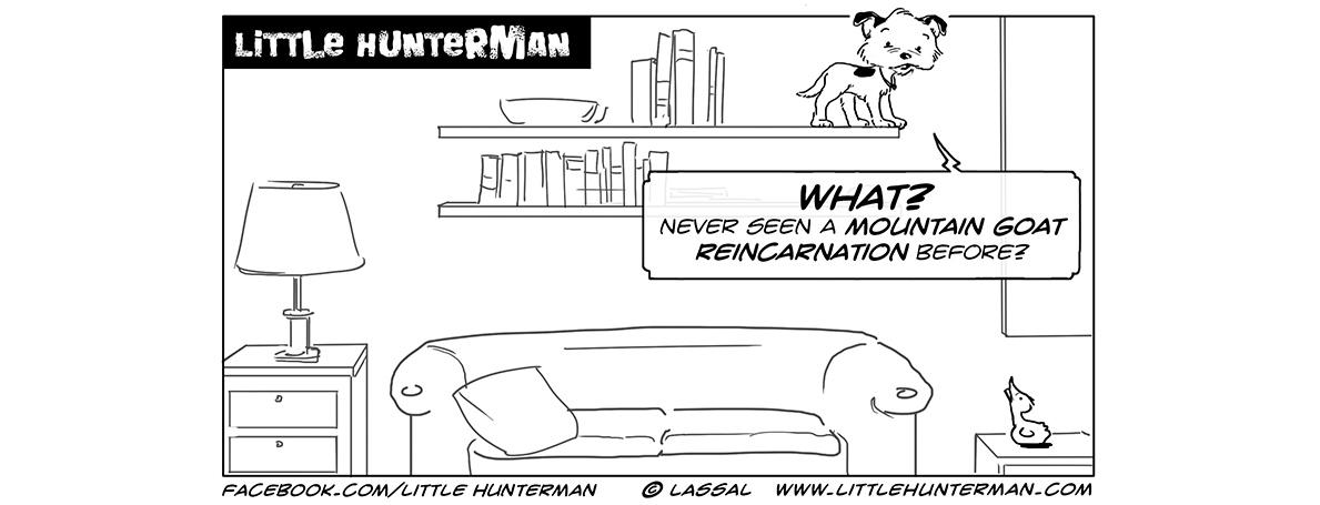 Little Hunterman Daily Cartoons – Mountain Goat Reincarnation