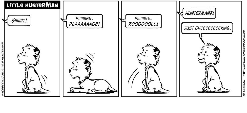 Little Hunterman Daily Cartoons, Just Checking
