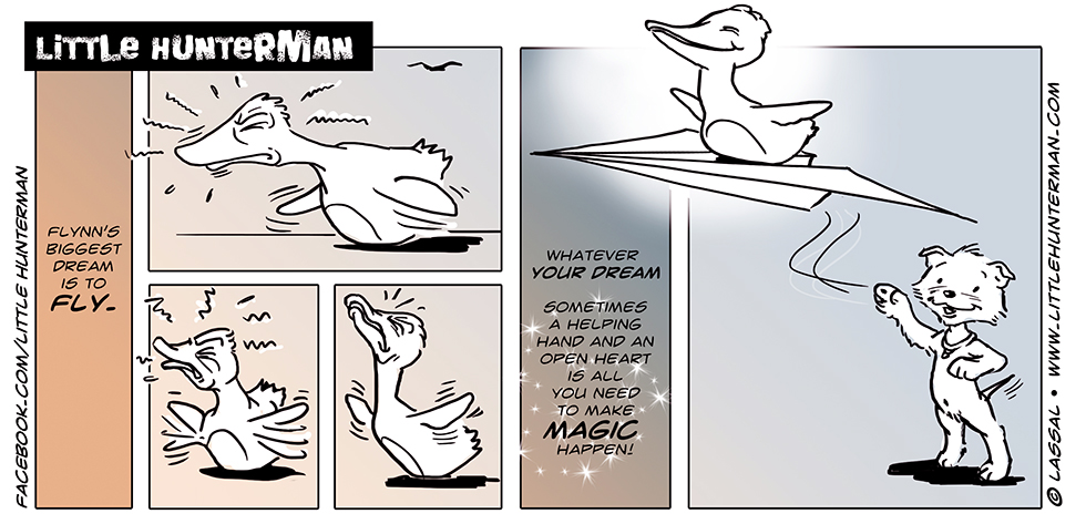 Little Hunterman Daily Cartoons 2014-03-03, Monday Mantra