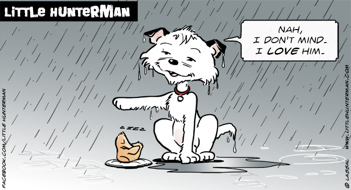 Little Hunterman Daily Cartoons 2014-03-18, Love wins