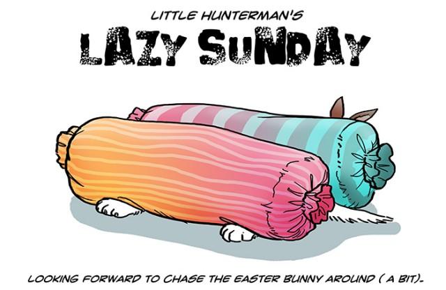 Little Hunterman - lazy sunday with- bunny-ears