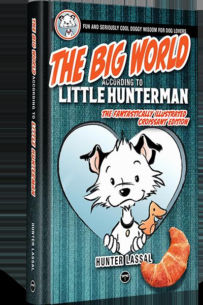The Big World According to Little Hunterman 8x5 Hardcover